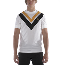 T-SHIRT FRED PERRY FP V-PANEL BIANCO