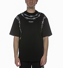 T-SHIRT PHOBIA WITH BARBED WIRE NERO