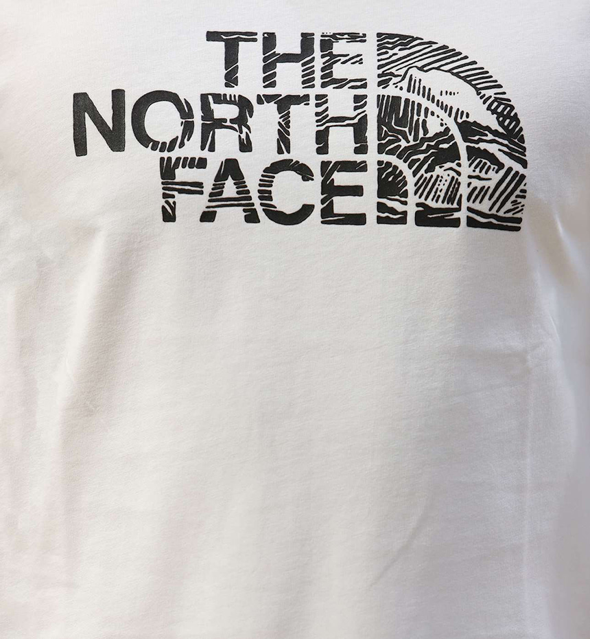T-SHIRT THE NORTH FACE M S/S WOODCUT DOME TEE BIANCO