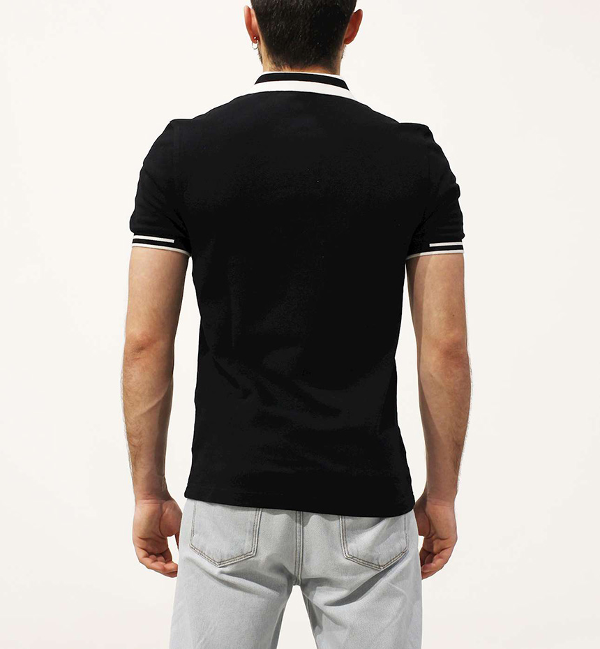 POLO FRED PERRY BLOCK TIPPED