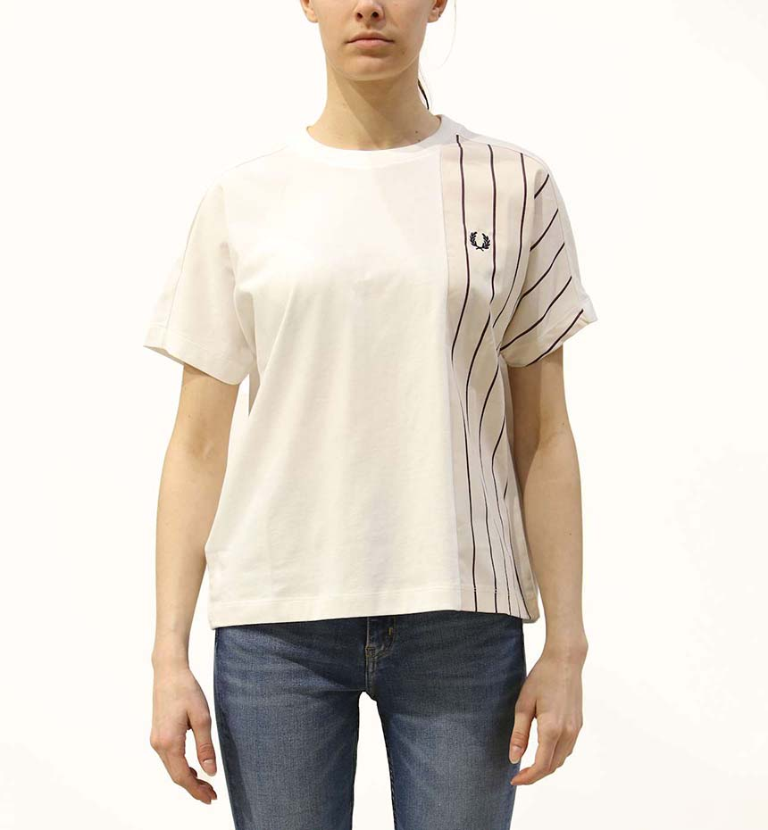 T-SHIRT FRED PERRY WOVEN PANEL