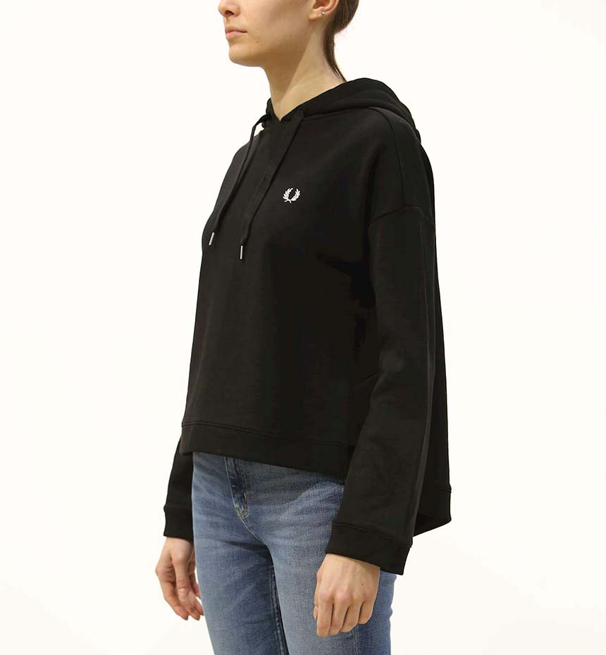 FELPA FRED PERRY TAPED HOODED