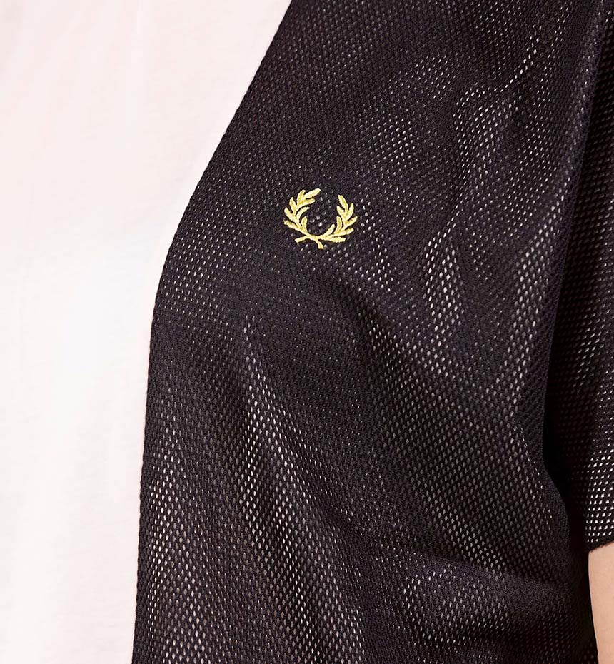 T-SHIRT FRED PERRY MESH PANEL