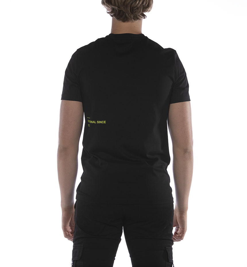 T-SHIRT FRED PERRY ABSTRACT GRADIENT NERO