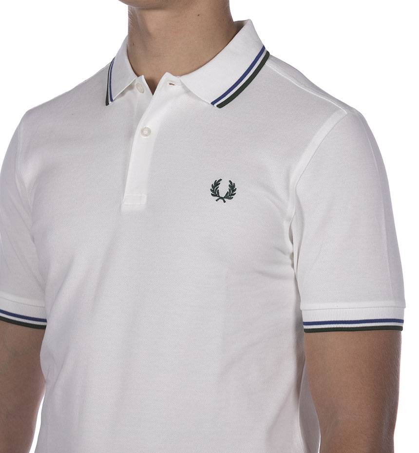 POLO FRED PERRY TWIN TIPPED BIANCO