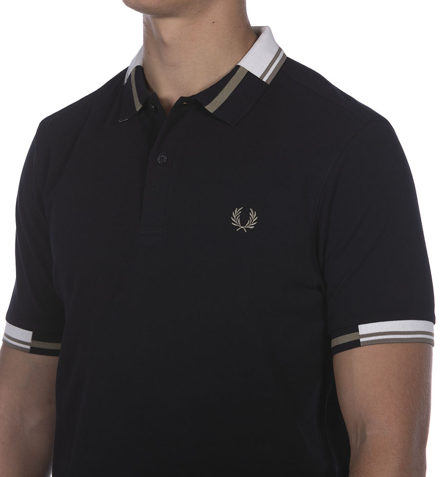 POLO FRED PERRY FP ABSTRACT TIPPED BLU