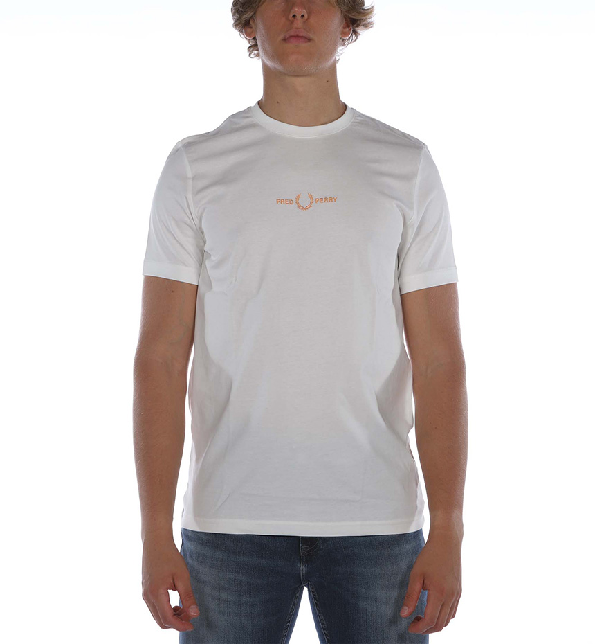 T-SHIRT FP EMBROIDERED BIANCO