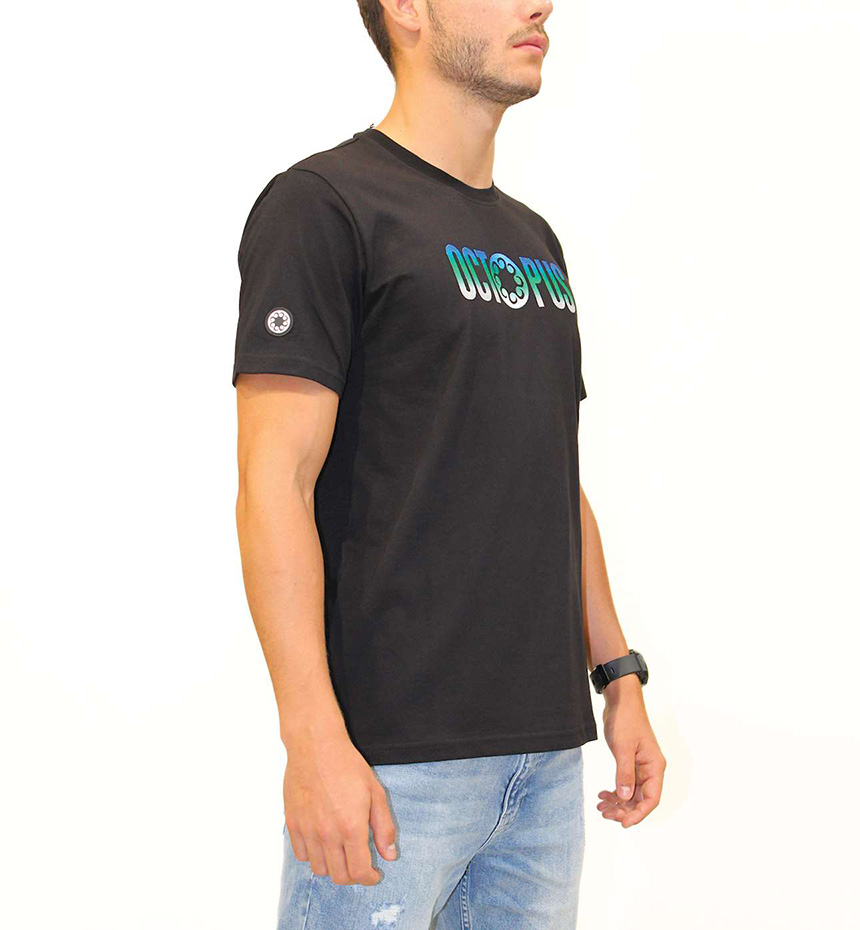 T-SHIRT OCTOPUS EMBROIDERED LOGO TEE