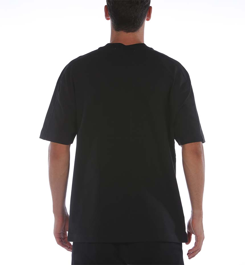 T-SHIRT CALVIN KLEIN OFF PLACED OVERSIZED NERO